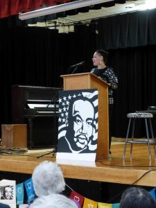Nikkita Oliver, delivering keynote address.